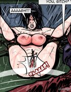 Nude slave's public whipping in the rain. Prison Horror Story 9 By Predondo.