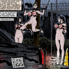 Naked slaves bound outdoors in the - BDSM Art Collection - Pic 3