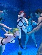 Amazing underwater hardcore fucking. The Paradise Cruise Adventure By
