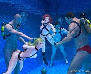 Amazing underwater hardcore fucking