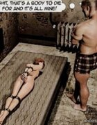 Girl is naked and bound in a man's basement. Collector By Arctoss.