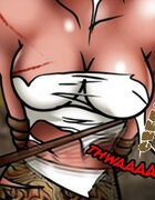 Painful caning for scrumptious slave girl. Cidade Do Diabo 3 By Lesbi