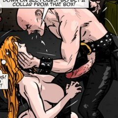 Frightened slave knows she must obey. - BDSM Art Collection - Pic 1