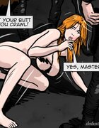 Slave made to act like a dog and accept pain. Gentlemens Club 3 By Predondo.