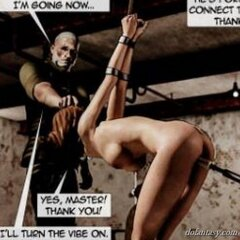 Skinny girl relentlessly screwed by a - BDSM Art Collection - Pic 3