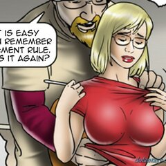Chesty gal give in to her boss' - BDSM Art Collection - Pic 4