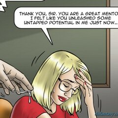 Blonde fingered by new male mentor. - BDSM Art Collection - Pic 3