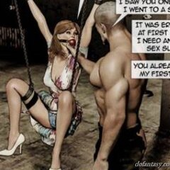 Dom gags and binds a well-dressed MILF. - BDSM Art Collection - Pic 4