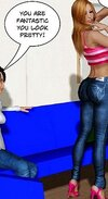Hot chick shows off her awesome ass in jeans