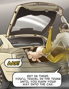 Newly enslaved girl tossed in a car's trunk. The Date With Fate By Erenisch.