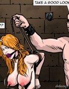 Slave endures sinister water torture. Gentlemens Club 3 By Predondo.