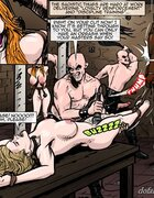 Gorgeous gals endure flogging and pussy stimulation. Gentlemens Club 3