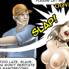 Beautiful slave slapped and fucked - BDSM Art Collection - Pic 2