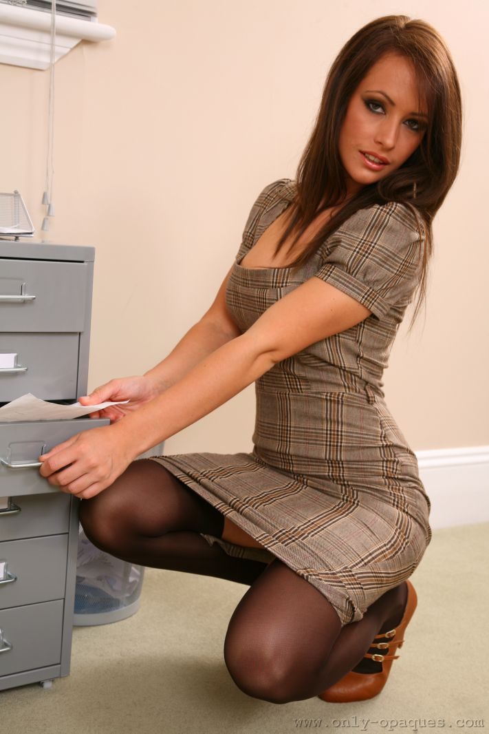 Hot secretary in stockings sex gif