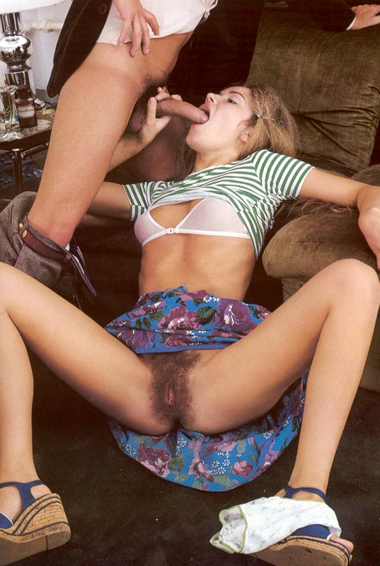 Retro Sexy Seventies Teenager Has A Taste Of Cock