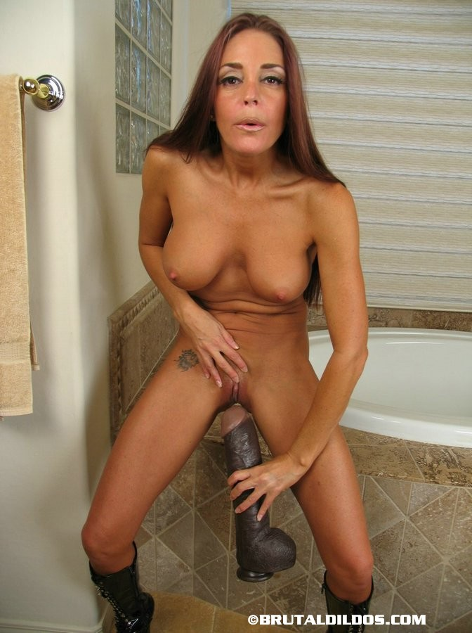 Big Dildo Cheyenne Uses A Brown Anal Dildo - Xxx Dessert - Picture 3-8767