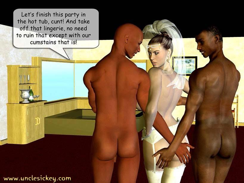 3D interracial cartoon porno