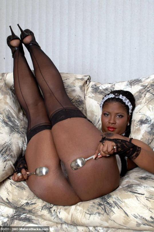 Hot Ebony Body Plays Dirty French Maid - Xxx Dessert - Picture 8-5361