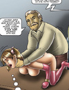 Bdsm comics young stunner gets her pussy plowed by older master.