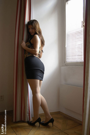Erotic scenes. Lucky in skirt and pantyh - XXX Dessert - Picture 10