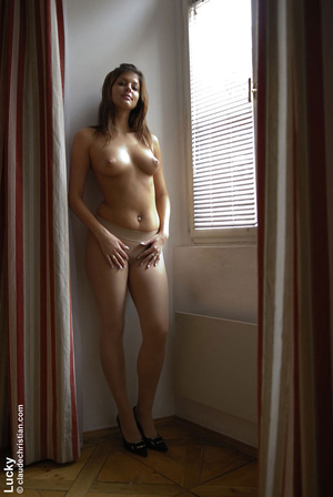 Erotic scenes. Lucky in skirt and pantyh - XXX Dessert - Picture 19