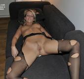 Nylon. Veronika in stockings and garter belt - Alica in stay ups.