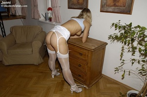 Panty hose porn. Girl in stockings sprea - XXX Dessert - Picture 20