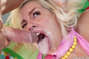 Squirting girl. Blonde bitch can squirt  - XXX Dessert - Picture 16