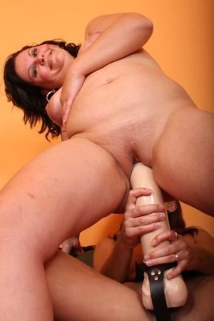 Lesbian xxx. Lesbians fuck big strap ons - XXX Dessert - Picture 9