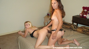 Lesbian pussy. Jayda fucked by strap on  - XXX Dessert - Picture 2