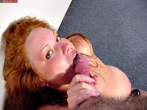 Redhead porno. Busty DD Redhead sucks co - XXX Dessert - Picture 5