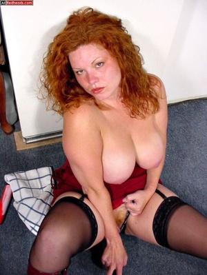 Redhead porno. Busty DD Redhead sucks co - XXX Dessert - Picture 12