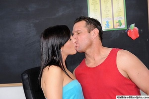 Handjob. Horny girl gives her guy a hand - XXX Dessert - Picture 1