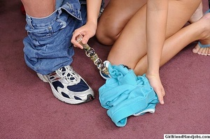 Handjob. Horny girl gives her guy a hand - XXX Dessert - Picture 13