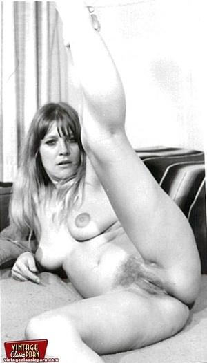 Vintage pornography. Bushy sixties ladie - Picture 4