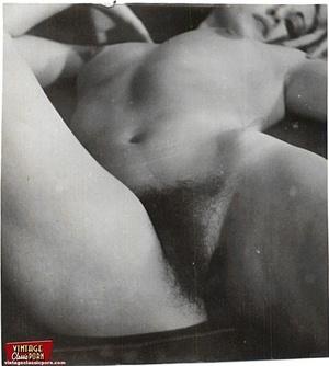 Vintage pornography. Bushy sixties ladie - Picture 8