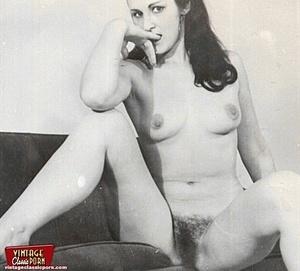 Vintage pornography. Bushy sixties ladie - Picture 9