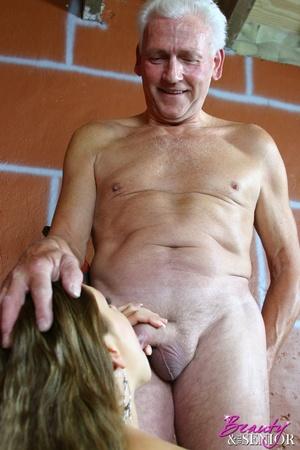 Young old sex. Brunette enjoys stiff sen - XXX Dessert - Picture 8