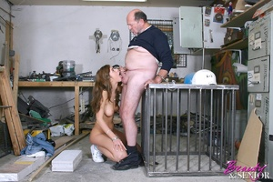 Old man young girl. Babe enjoys an older - XXX Dessert - Picture 9