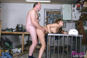 Old man young girl. Babe enjoys an older - XXX Dessert - Picture 12