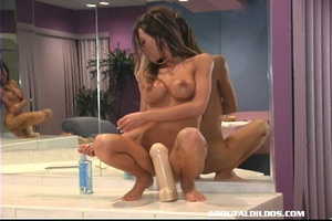 Extreme dildo. Big Plug Being Squated On - XXX Dessert - Picture 7