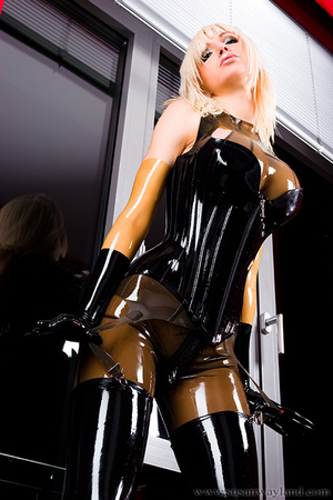 Rubber erotic. Wet Shiny Latex Layers. - XXX Dessert - Picture 2