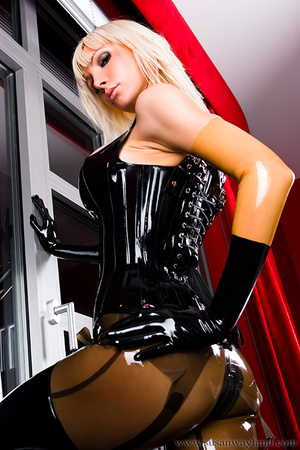 Rubber erotic. Wet Shiny Latex Layers. - XXX Dessert - Picture 6
