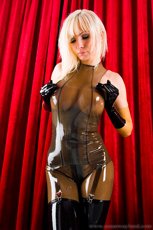 Rubber erotic. Wet Shiny Latex Layers. - XXX Dessert - Picture 8