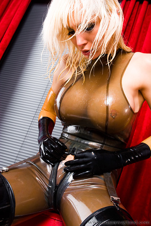 Rubber erotic. Wet Shiny Latex Layers. - XXX Dessert - Picture 11