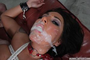 Huge cumshot. Stewardess gets disgraced  - XXX Dessert - Picture 14