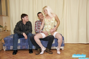 Rimjob. Blonde little slut licking asses - XXX Dessert - Picture 4