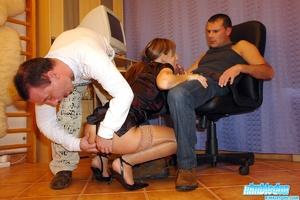 Rim job porn. Horny secretary loves to m - XXX Dessert - Picture 6