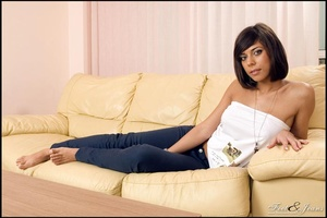 Foot lovers. Hot girl with smooth soles. - XXX Dessert - Picture 1