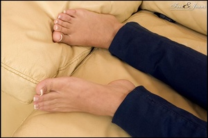 Foot lovers. Hot girl with smooth soles. - XXX Dessert - Picture 2